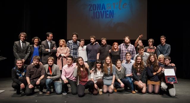 Ganadores Gala Arte Joven. Foto cedida por Mikel G. Otamendi